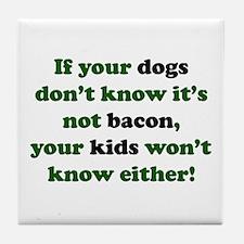 Bacon Dogs Tile Coaster