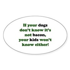 Bacon Dogs Oval Decal