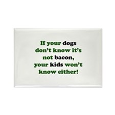 Bacon Dogs Rectangle Magnet