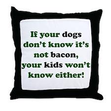 Bacon Dogs Throw Pillow