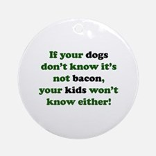 Bacon Dogs Ornament (Round)