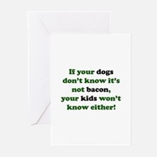 Bacon Dogs Greeting Cards (Pk of 10)