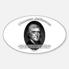 Thomas Jefferson 12 Oval Decal
