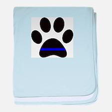 k9 paw baby blanket