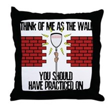 Lacrosse Goalie Wall Throw Pillow