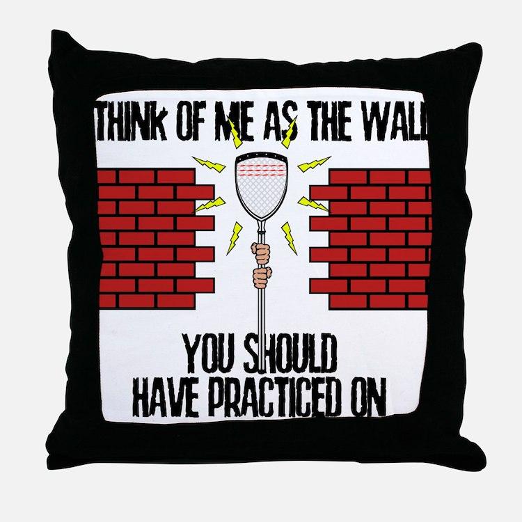Lacrosse Goalie Wall Throw Pillow