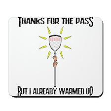 Lacrosse Goalie PAss Mousepad