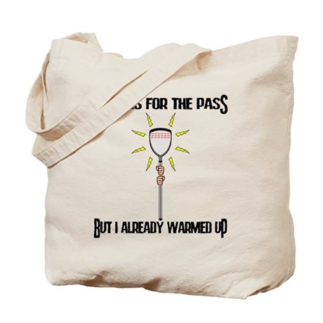 Lacrosse Goalie PAss Tote Bag