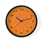 Halloween Spider Web Wall Clock