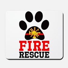 Fire and Rescue Dog Mousepad
