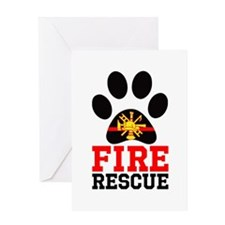 Fire and Rescue Dog Greeting Cards