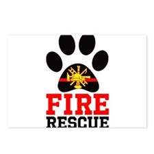 Fire and Rescue Dog Postcards (Package of 8)