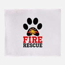 Fire and Rescue Dog Throw Blanket