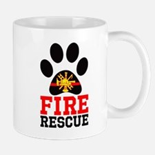 Fire and Rescue Dog Mugs