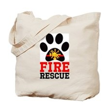 Fire and Rescue Dog Tote Bag