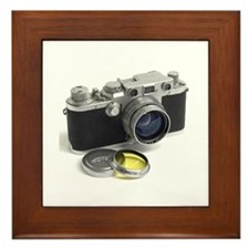 Cute Camera Framed Tile