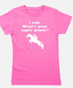 I Ride Super Power Girl's Tee
