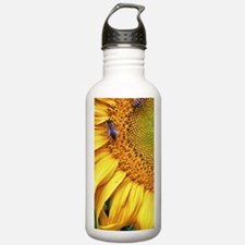 Bees on Sunflower Water Bottle