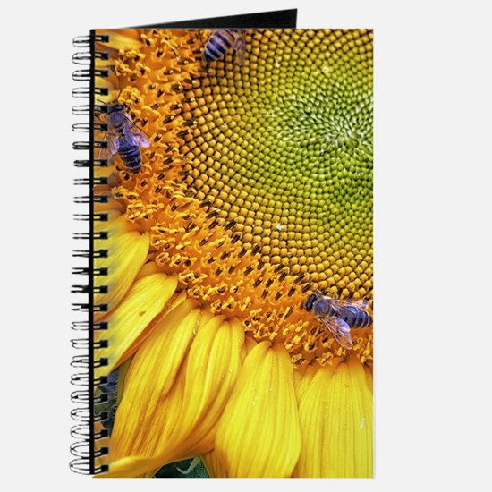 Bees on Sunflower Journal