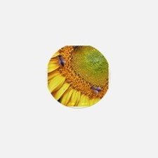 Bees on Sunflower Mini Button
