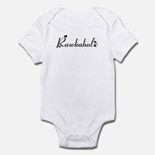 Rawkaholic in Black Infant Bodysuit
