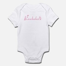 Rawkaholic in Pink Infant Bodysuit