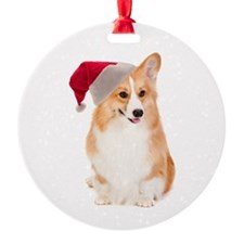 Santa Corgi Ornament