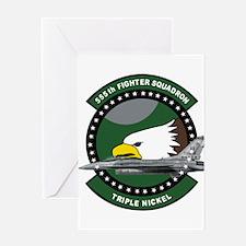 555th_fs_f16_f-16_falcon Greeting Cards