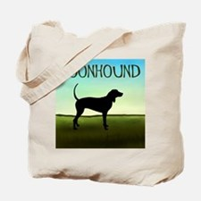 Coonhound In A Field Tote Bag
