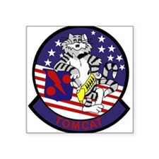 F-14 Tomcat VF-11 Red Rippers Sticker (Rectangular