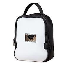 Funny Pug Neoprene Lunch Bag