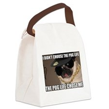 Cute Pug Canvas Lunch Bag