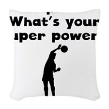 I Spike Super Power Woven Throw Pillow
