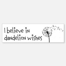 Dandelion Wishes Bumper Bumper Bumper Sticker