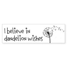 Dandelion Wishes Bumper Bumper Sticker