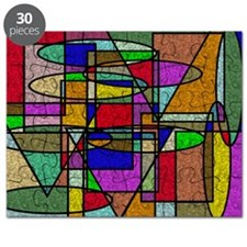 Abstract Stained Glass Puzzle