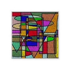 Abstract Stained Glass Sticker