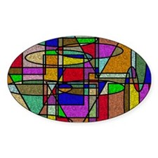 Abstract Stained Glass Decal