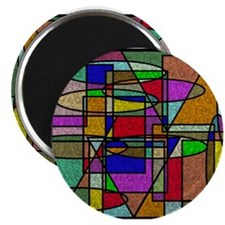 Abstract Stained Glass Magnets