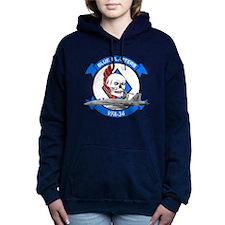Cute Navy blue Women's Hooded Sweatshirt