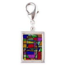 Abstract Stained Glass Charms