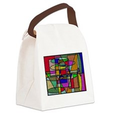 Unique Abstract art Canvas Lunch Bag