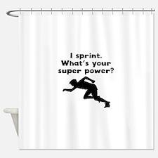 I Sprint Super Power Shower Curtain