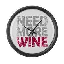 Cute Grapes and wine Large Wall Clock
