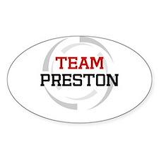 Preston Oval Decal
