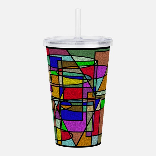 Unique Red square Acrylic Double-wall Tumbler