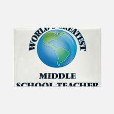 World's Greatest Middle School Teacher Magnets
