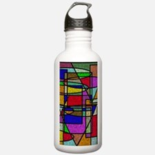 Funny Digital abstract art Water Bottle