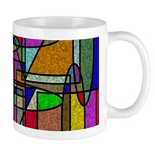 Abstract Stained Glass Mugs