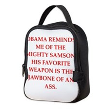 anti obama Neoprene Lunch Bag
